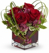 Teleflora's Sweet Thoughts Bouquet Cube Arrangement-fresh
