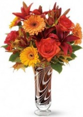 Swirls of Fall Leaves Bouquet mix