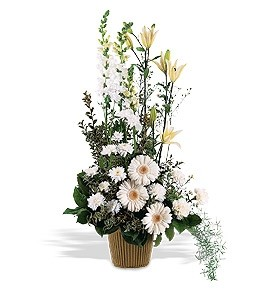 Telefloras Tall White Arrangement In Thunder Bay On Grower