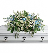 Teleflora's Tender Remembrance Casket Spray Sympathy