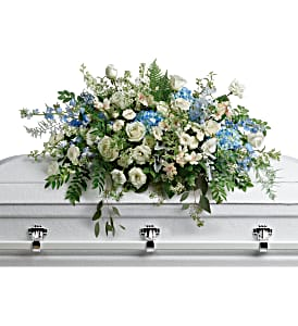 Teleflora's Tender Remembrance Casket Spray Sympathy in Auburndale, FL | The House of Flowers