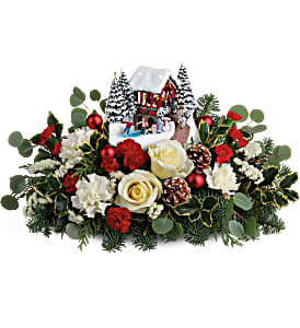 Teleflora's Thomas Kinkade 2018 Christmas Bridge Bouquet