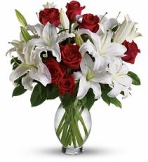 Teleflora's Timeless Romance - Long Stemmed Roses fresh arrangement