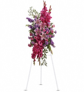 Teleflora's Touching Tribute Spray Standing Spray