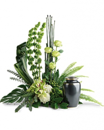 Teleflora's Tranquil Cremation tribute Sympathy Arrangement