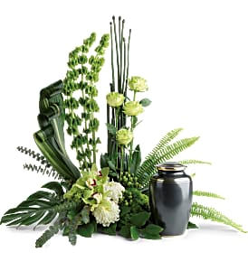 Teleflora's Tranquil Peace Cremation Tribute Sympathy