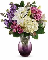 Teleflora's True Treasure Bouquet Fresh vased arrangement