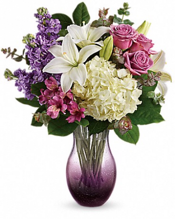 Teleflora's True Treasure Bouquet Fresh vased arrangement
