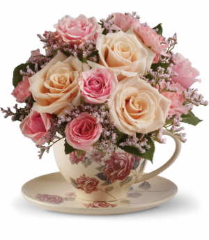 Teleflora's Victorian Teacup Bouquet  Keepsake in Mount Pearl, NL | MOUNT PEARL FLORIST