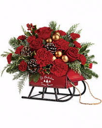 Teleflora's Vintage Sleigh Bouquet Christmas