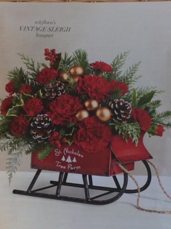Teleflora's Vintage Sleigh Christmas