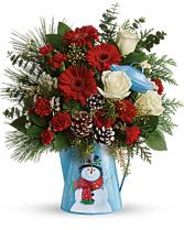 Teleflora's™ Snowy Daydreams Bouquet Christmas Arrangement