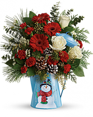 Teleflora's™ Snowy Daydreams Bouquet Christmas Arrangement in Las Vegas, NV | All In Bloom