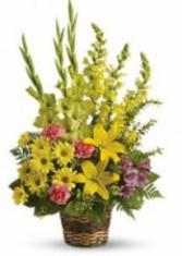 Teleflora's Vivid Recollections Fresh Funeral Arrangement
