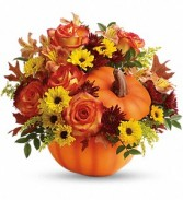 Teleflora's Warm Fall Wishes Bouquet Fall Flowers