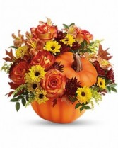 Teleflora's Warm Fall Wishes Bouquet Fall Arrangement