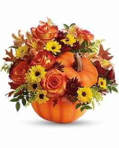 Teleflora's Warm Fall Wishes Bouquet Fall Arrangement
