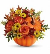 Teleflora's Warm Fall Wishes Bouquet Vase Bouquet