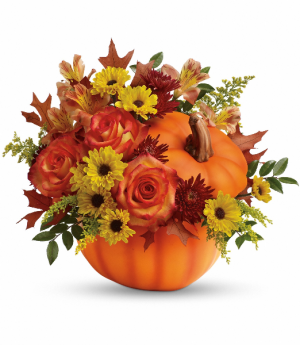 Teleflora's Warm Wishes Bouquet Thanksgiving  in Tyngsboro, MA   BLOSSOMS
