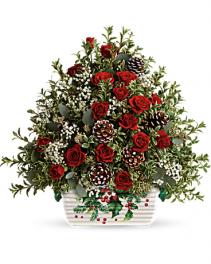 Teleflora's™ Warmest Winter Tree Christmas Arrangement