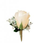 Teleflora's White Rose Boutinniere Wedding