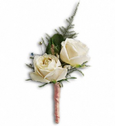 Teleflora's White Tie Boutonniere Wedding