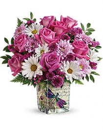 Teleflora's Wildflower Bouquet Fresh Cube Arrangement