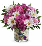 Teleflora's Wildflower in Flight Fresh Flower in Keepsake