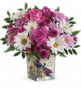 Teleflora's Wildflower in Flight Fresh Flower in Keepsake in Auburndale, FL | The House of Flowers