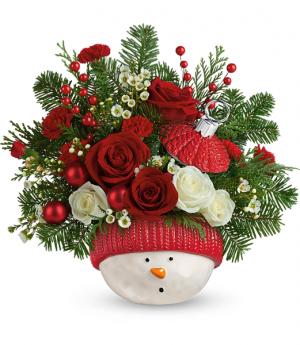 Winter Fun Ornament Holiday Arrangement in Winnipeg, MB | KINGS FLORIST LTD