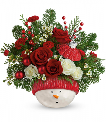 Winter Fun Ornament Holiday Arrangement