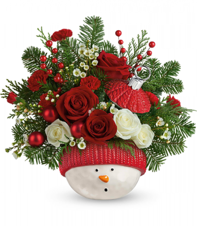Winter Fun Ornament Holiday Arrangement