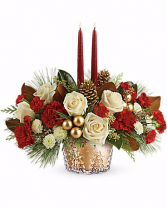 Teleflora's Winter Pines Centerpiece Christmas