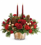Teleflora's Winter Pines Centerpiece Christmas arrangement