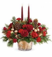 Teleflora's Winter Pines Centerpiece Christmas arrangement