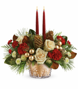 Teleflora's Winter Pines Centerpiece Christmas Arrangement in Rossville, GA | Ensign The Florist