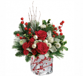 Teleflora's Winterberry Kisses Bouquet  Christmas arrangement