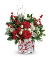 Teleflora's Winterberry Kisses Bouquet Christmas Arrangement