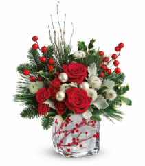 Teleflora's Winterberry Kisses Fresh Arrangement