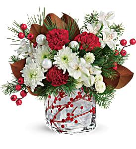 Teleflora's Winterberry Kisses Keepsake Bouquet