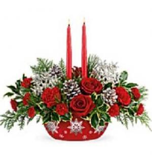 Winter's Eve Centerpiece  in Saint Marys, PA | GOETZ'S FLOWERS