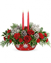 Teleflora's Winter's Eve Centerpiece Arrangement