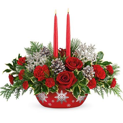 Teleflora's Winter's Eve Centerpiece  Christmas