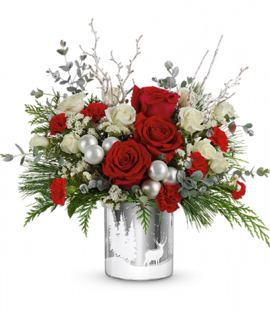 Teleflora's Wintry Wishes Bouquet Holiday Arrangement
