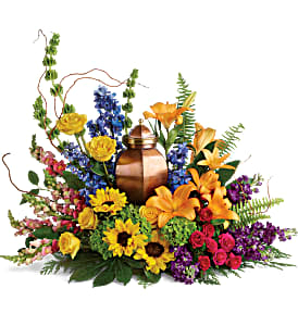 Teleflora's With All Our Hearts Cremation Tribute Sympathy