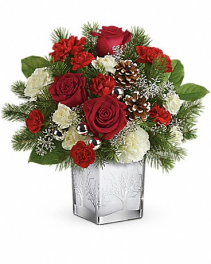 Teleflora's Woodland Winter Christmas arrangement