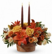 Teleflora's Wrapped in Autumn Fall Centerpiece