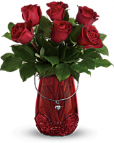 Teleflora's You Are Cherished Bouquet Roses in special vase
