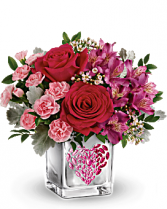 Teleflora's Young at Heart Bouquet Mix flowers in special vase