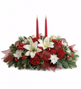 Teleflora's Yuletide Magic Centerpiece Christmas